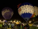 Balloon ride in Italy: Night Glow