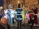 Christmas parade on stilts