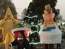 Christmas walking act parade