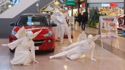 White living statues