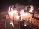 Musical fireworks applied to monuments and the buildings