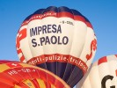 Advertising balloon ride in Italy